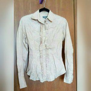 TM Lewin Floral button down shirt